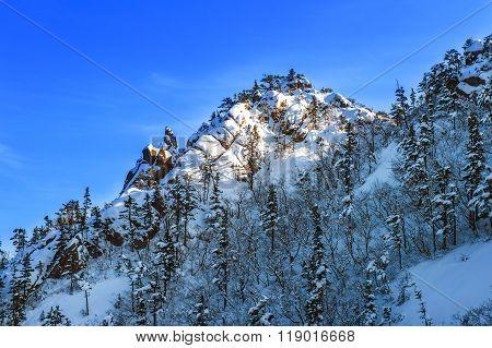 Seoraksan In Winter,famous Mountain In Korea