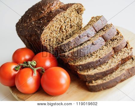 Bread And Red Tomatoes