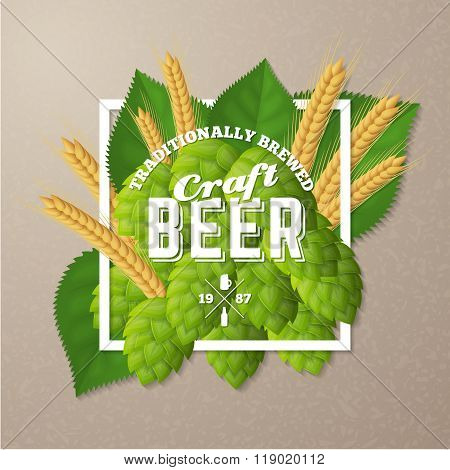 Vector craft beer poster