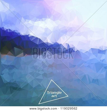 Triangle Vector Polygon Art. Vector Illustration