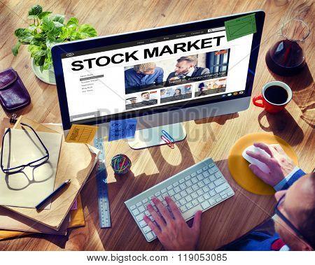Stock Market Finance Economy BusinessMoney Concept