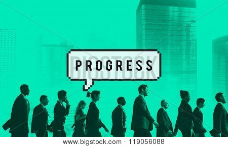 Progress Progression Progressive Developement Concept