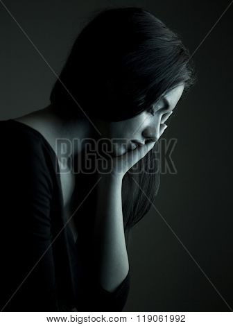 Woman feeling pain from toothache