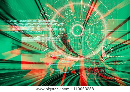 Cyber Laser Target On A Speed Concept