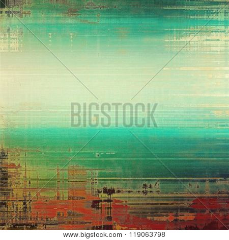 Grunge colorful background. With different color patterns: brown; green; gray; blue; red (orange)