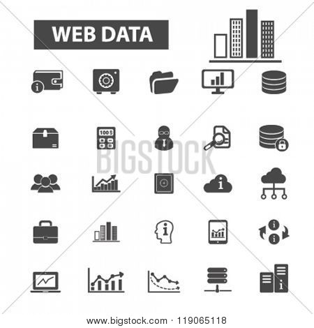 database icons, database logo, data icons vector, data flat illustration concept, data infographics elements isolated on white background, data logo, data symbols set, web data, cloud, analytics
