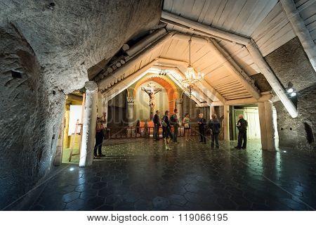 Wieliczka Salt Mine In Krakow, Poland, Europe.