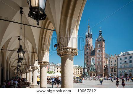 St. Mary's Basilica, Kraków, Poland, Europe.