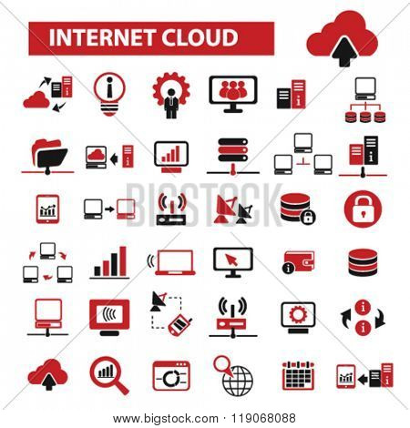 internet cloud icon, clouding, web, computer network, connection, hosting, database, pc icons