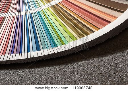 Color card, Color guide closeup, Color Chart, Color Swatch