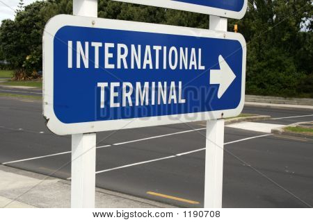 International Terminal Sign