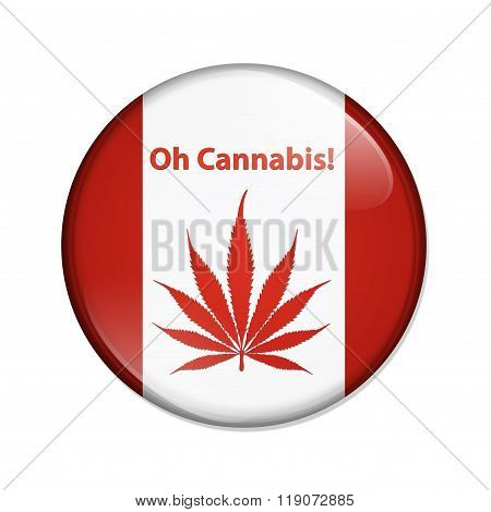Oh Cannabis Marijuana In Canada Button