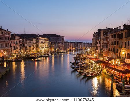 Venice Cityscape From Rialto Bridge