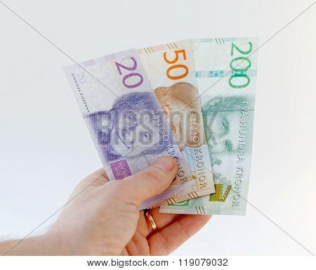 Swedish Currency, 20 Sek, 50 Sek And 200 Sek, New Layout 2015