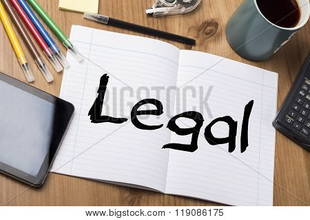 Legal - Note Pad With Text