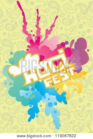 Holi background. Holi vector. Creative Flyer, Banner or Poster design of Traditional Indian festival Holi. Bengali New Year. Holi colorful illustration. Holi holiday. Holi celebration, Happy Holi.