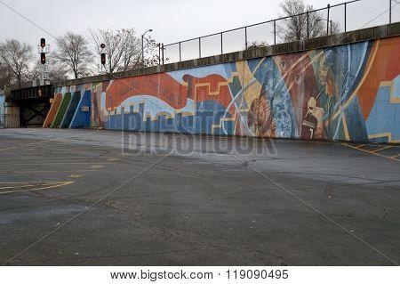 Joliet High School Centennial Mural