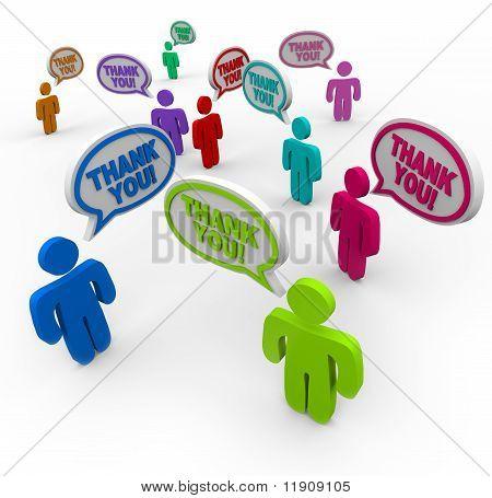 Vielen Dank - wertschätzende Menschen einander zu danken