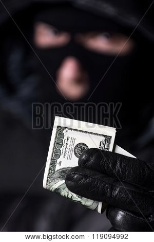 Man holding the money