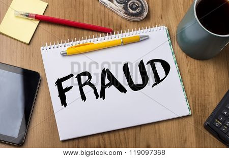 Fraud - Note Pad With Text