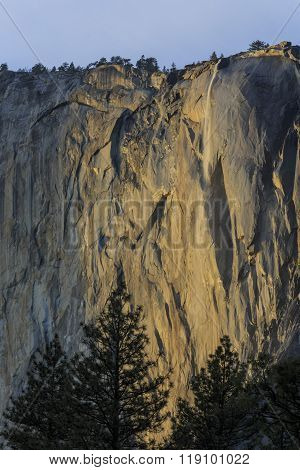 Horsetail Fall Around Sunset Time