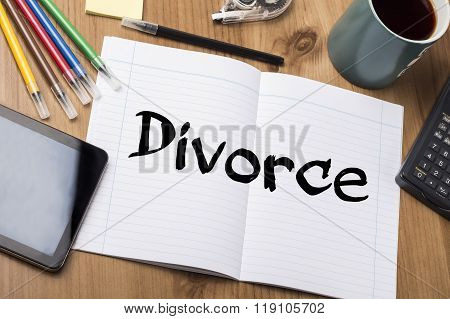 Divorce - Note Pad With Text