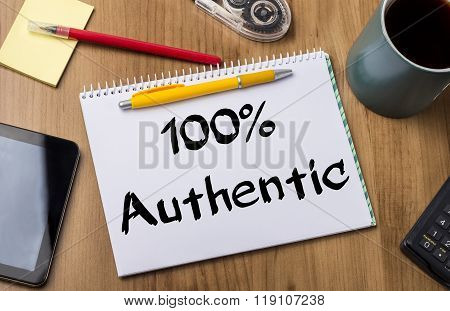 100% Authentic - Note Pad With Text