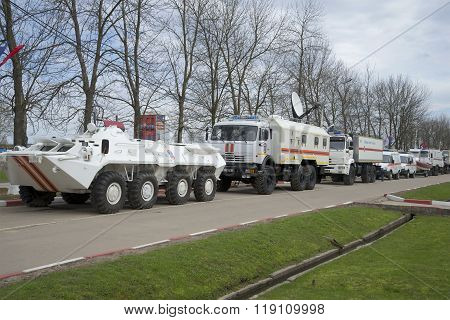 Column operational transport 346 Nevsky rescue center EMERCOM of Russia