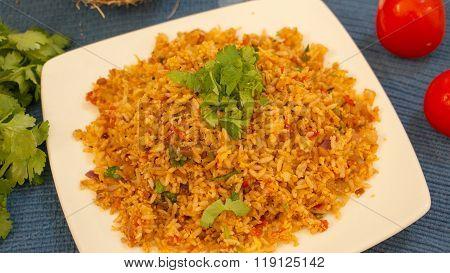 Tomato Bhath Is A Rice Preparation From Karnataka, India