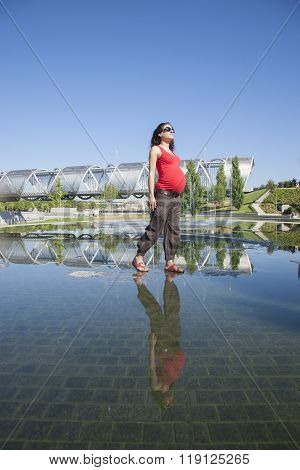 Pregnant Walking On Water