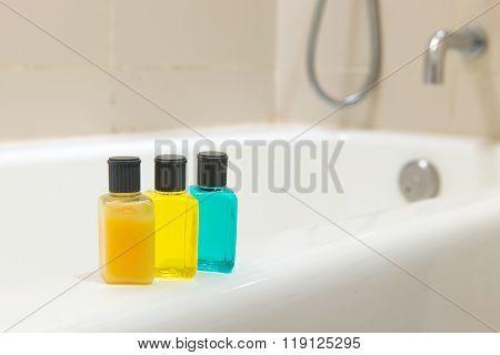 Toiletries In Bathroom