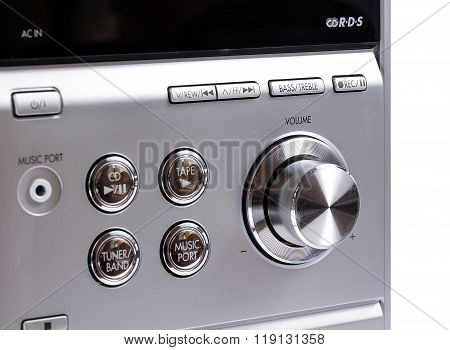 Hand On Sound Volume Control Knob
