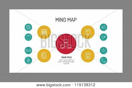 Two Level Mind Map Template