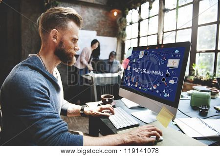 Programming Digital Computer Program Media Software Concept