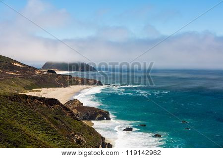 A View Of The California Coastline Along State Road 1
