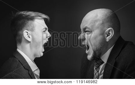 ?hief and his subordinate shouting at each other