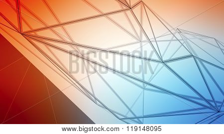 Photo of highly detailed multicolor line background. Art background, horizontal. 3d render