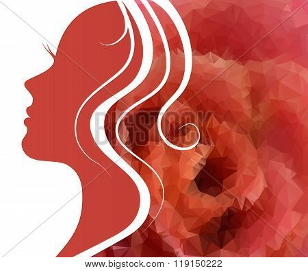 Woman's Silhouette With Beautiful Hair