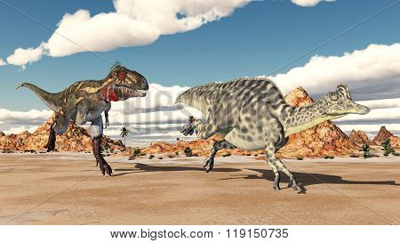 Nanotyrannus attacks Velafrons