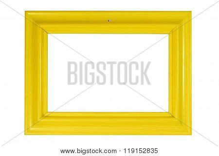 Bright yellow wooden photo frame