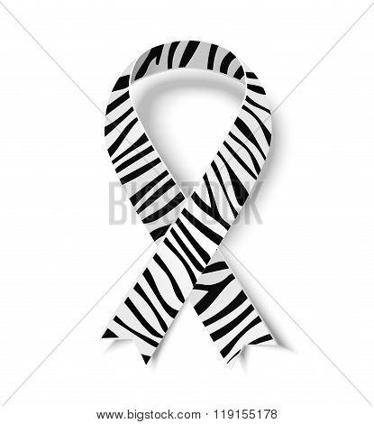 Zebra-print ribbon symbol