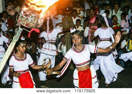 Dancers Participate The Festival Pera Hera In Kandy