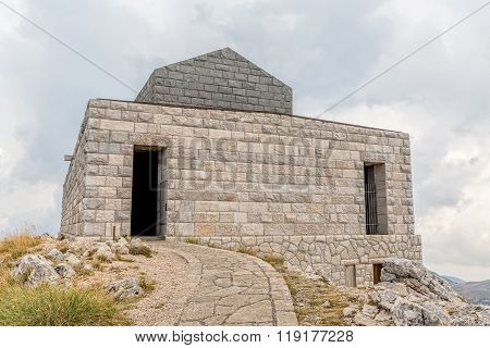 Njegos mausoleum on Lovcen hill