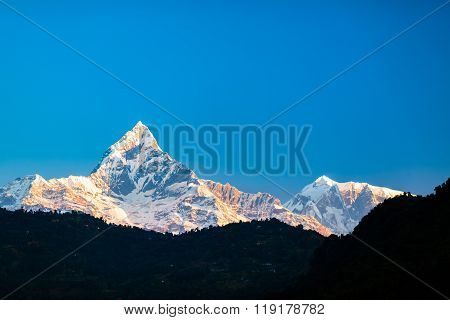 Mountains Inspirational Landscape, Himalayas Nepal