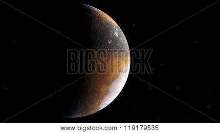 Procedural generated image of Mars
