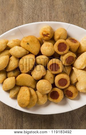 Mixed Brazilian Snacks Fried