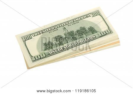 Stack Of Us Dollars Banknotes