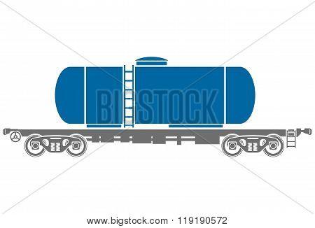 Tank Railway freight car - Vector illustration