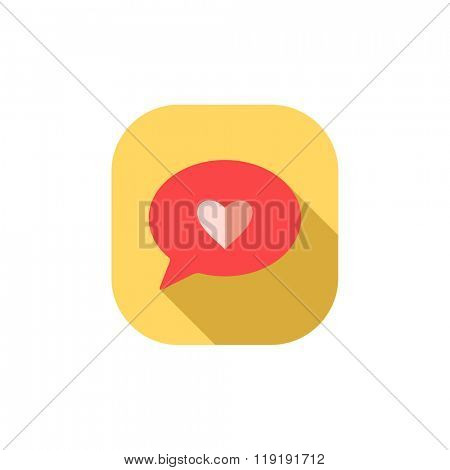 Flat heart icon.Vector