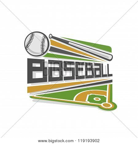Vector logo for baseball sport